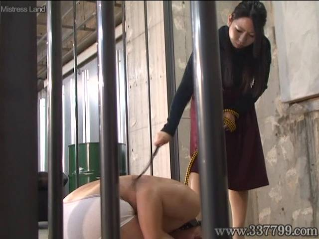 奴隷デブ男の体を鞭で叩く美麗女王様